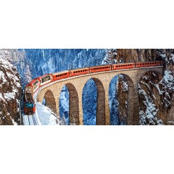 Pussel Panorama 600 bitars, Landwasser Viaduct, Swiss Alps