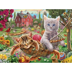 SunsOut Adrian Chesterman - Cats on the Farm - Puzzle 1,000 pieces