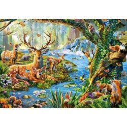 500-bitars pussel, Forest Life