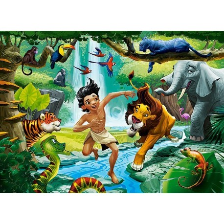 Pussel 100 bitars, Jungle Book